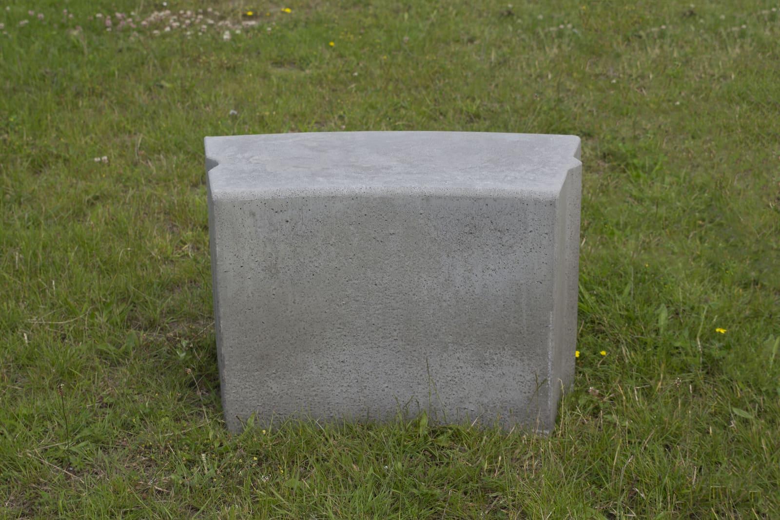 Bochtband 40x50   R=12-15 grijsbeton