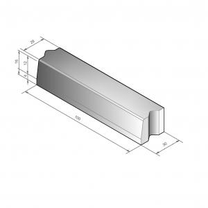 Trottoirband 100x28/30x16 + hulpstuk