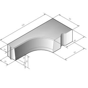 Hoekband 18/20x16-48/50x16 90 °