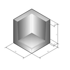 L-hoekband 45x50